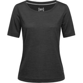 super.natural Essential Scoop Camiseta Mujer, negro